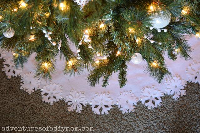 Snow christmas tree skirt u festival collections