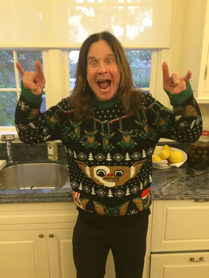 Celebrities In Ugly Christmas Sweaters 972507089