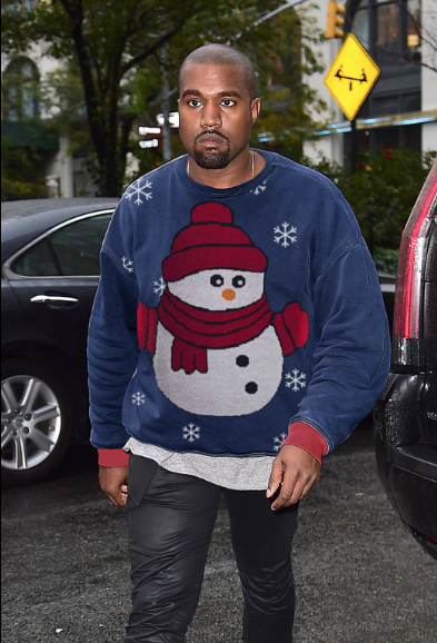 Celebrities In Ugly Christmas Sweaters 475558202
