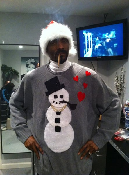 Celebrities In Ugly Christmas Sweaters 1332147923