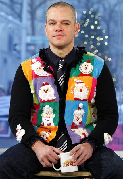 Celebrities In Ugly Christmas Sweaters 2052666523