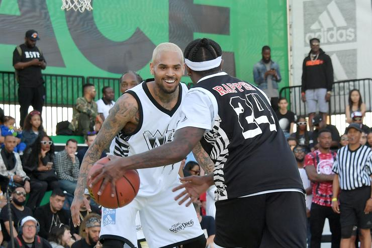 Chris Brown Caught Hitting Blunt During Hip-Hop All Star Game