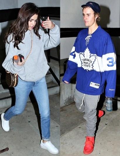 Justin Bieber & Selena Gomez Reunited At His Hockey Game
