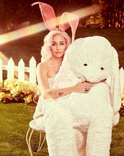 Miley Cyrus Shares Easter Vogue Photo Shoot Pictures
