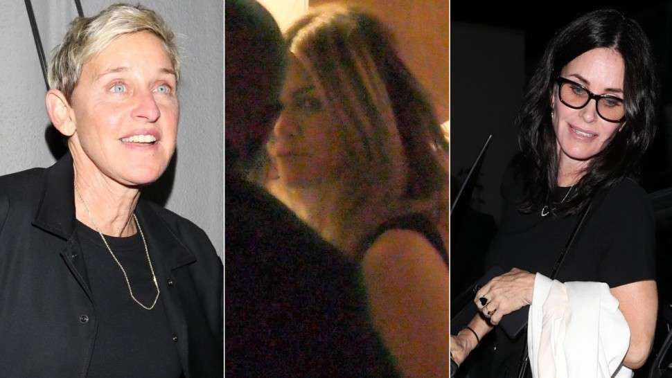 Jennifer Aniston Had A Girls Night Out With Courtney Cox & Ellen DeGeneres