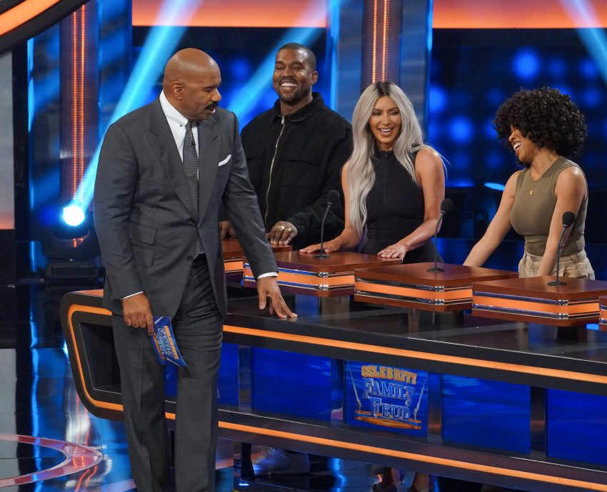 Kanye West Couldn't Stop Smiling During 'Celebrity Family Feud' Episode
