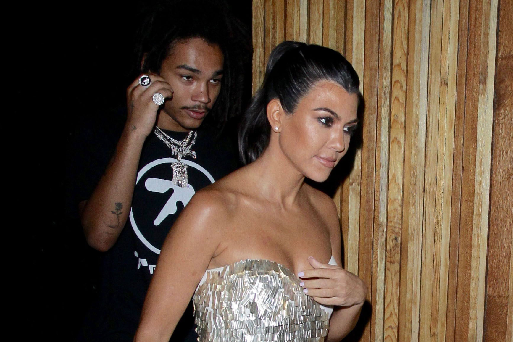 Kourtney Kardashian & Luka Sabbat Pictured Entering Hotel After Night Out